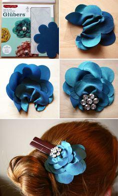 Gluber tutorial DIY Hairclips,  Go To www.likegossip.com to get more Gossip News!