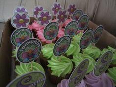 Baby Shower Neon Mini Cupcakes / Creaciones Reina Sofia Ciudad Ojeda Zulia Venezuela