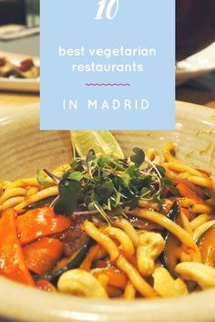 Vegetarian restaurants, Madrid