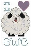 Free...I Love Ewe...counted cross stitch pattern
