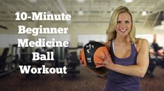 I was wondering how to use those little heavy basketballs! LOL ~~ 10-Minute Beginner #MedicineBall #Workout