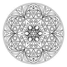vector mandala I made in Paint Shop Pro....if you want to download it and color in, please do.