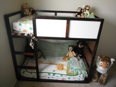 How to create the Toddler Bunk Bed from Ikea for $30ish ... I will be doing this, and painting it white for the girls