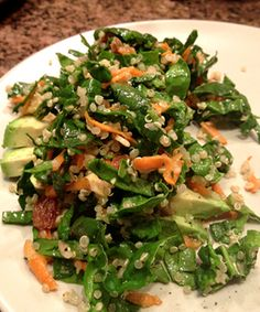 Spinach, Quinoa, Cashew and Carrot salad in a curry vinaigrette from Front Door Organics