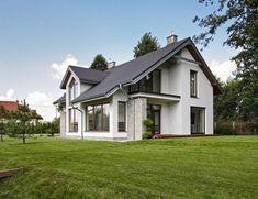realizacja 1 - zdjęcie 22 Custom Home Builders, Custom Homes, Style At Home, Beautiful House Plans, Modern Barn House, Self Build Houses, Simple House Design, Dream House Exterior, Home Fashion