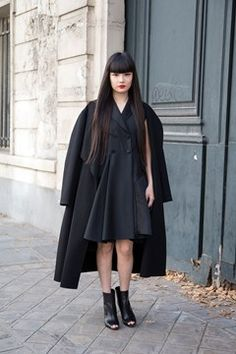 """PFW SS14: Kozue Akimoto, model, """"Everything I'm wearing is by Dior."""""""