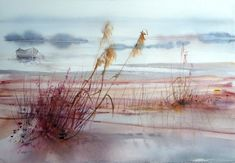 Reine-Marie Pinchon - camargue coucher soleil #watercolor jd