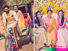 A white kurta with a beige churidaar and a yellow jacket by Raghavendra Rathore for the Mehendi of Groom Devang of WeddingSutra. Photos Courtesy- Photo Tantra