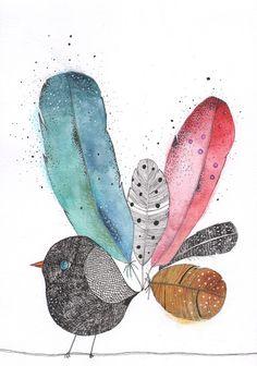 Miriam Bouwens: Inky bird