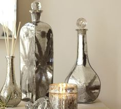 Etched Mercury Glass Perfume Bottles Benefiting St. Jude Children's Research Hospital® | Pottery Barn