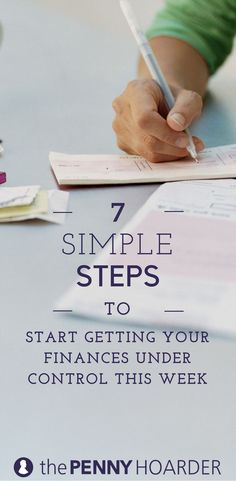 t's easy to get overwhelmed by your finances. These seven simple money management steps can help you start taking control of your money this week... @thepennyhoarder