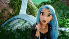 Rapunzel has blue hair