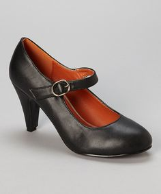 Another great find on #zulily! Black Kimmy Mary Jane Pump by Chase & Chloe #zulilyfinds