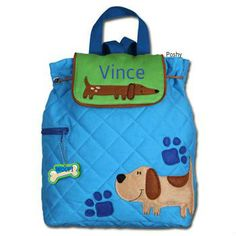 Personalized Boys Diaper Bag or Backpack Stephen by PoshyKids,  25.50 Dog  Backpack, Toddler Backpack 90152045c7