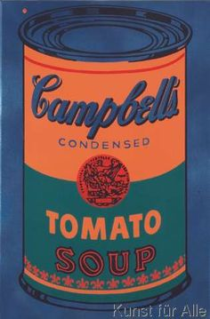 Andy Warhol - Colored Campbell's Soup Can, 1965 (blue & orange)