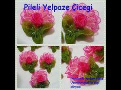 Organze Kurdele oyaları&PİLELİ YELPAZE ÇİÇEĞİ,Forex flower,health flower,summer Taksim flower - YouTube