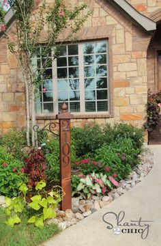 Hometalk :: DIY Address Numbers Post & Planter