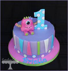 Girly Little Monster Cake  www.facebook.com/i.love.cuteology.cakes