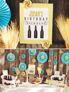 Backyard Beer Bash {Adult Birthday} // Hostess with the Mostess®...Josh's birthday possibility