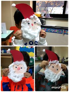 Santa Claus is coming to school! We had a great time making these fluffy bearded Father Christmas's! You may need: White construction paper Cotton Red construction paper Googly eyes Peach cra…