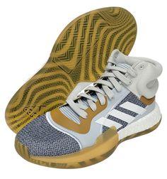 adidas Marquee Boost Men's Basketball Shoes NBA Casual Gray Brown NWT G27741 #adidas #BasketballShoes