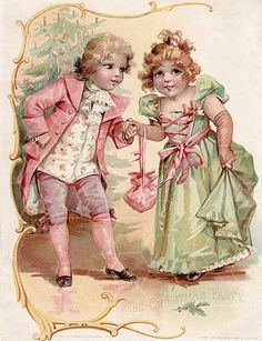 Victorian Children Illustration