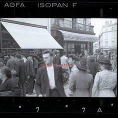 POITIERS - 1940 Rue de la Marne  sous l'occupation, photographie professionnel prise par l'occupant.