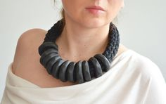 Hey, I found this really awesome Etsy listing at https://www.etsy.com/listing/193664416/oversize-necklaceblack-statement