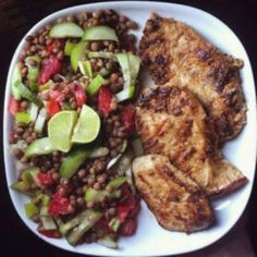 Here are 10 full and light WW dishes, pretty and tasty healthy plates … - Recipes Easy & Healthy Easy Healthy Recipes, Quick Easy Meals, Lunch Recipes, Healthy Plate, Healthy Eating, Healthy Food, Zucchini Puffer, 200 Calories, Tandoori Chicken