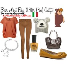 Bear Lost Boy (Peter Pan) Outfit, created by martinafromitaly on Polyvore
