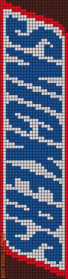 Alpha Friendship Bracelet Pattern #12334 - BraceletBook.com
