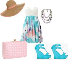 Day at the Beach, created by christen426 on Polyvore