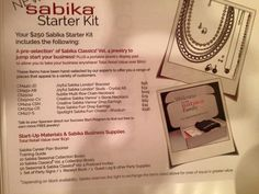New Sabika Jewelry Sign On Package!  stephaniesabika@gmail.com or 412-915-5982