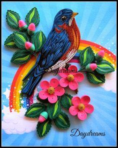 DAYDREAMS: Quilled Blue bird