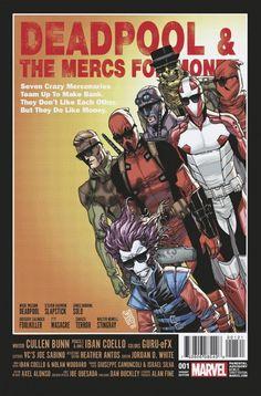 Portada variante 2 de Deadpool and Mercs for Money