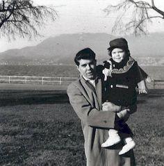 With my Dad at Kitsilano Beach.