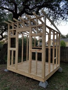 Walls and roof frames built. Walls and roof frames built. Wood Shed Plans, Shed Building Plans, Generator Shed, Norway House, Backyard Fort, Studio Shed, Storage Shed Plans, Tiny House Cabin, Diy Shed