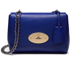 Mulberry Lily ($1,095) ❤ liked on Polyvore featuring bags, handbags, neon blue, blue handbags, blue purse, woven leather handbag, mulberry purse and chain handle handbags