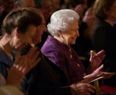 The queen listens to poetry at a reception for contemporary poetry held at buckingham palace the princess royal was also in attendance 20.11.13
