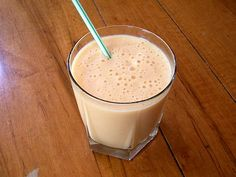 These healthy smoothie recipes include a variety of healthy smoothies, designed to appeal to both kids and adults. The best part about these healthy smoothies is that they are cheaper than going to a smoothie bar, have no additives, like packaged fruit smoothie mixes, and are as tasty as a milkshake.: Healthy Smoothie Recipes - Peach Smoothie Recipe