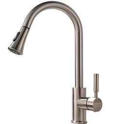 HOTIS HOME Touch On Kitchen Sink Faucets Modern Swivel Pull Down Touch Stainless #HOTISHOME