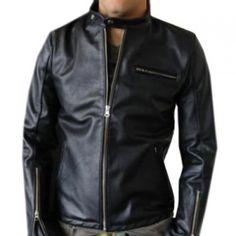 Goatskin Elegant and Eye Catching Black Biker Jacket made from Real Leather  #Leather Jacket; #Men Leather Jacket; #Biker Leather Jacket; #Fashion; #Motorcycle Leather Jacket; #Handmade; Uk; Usa; Canada;
