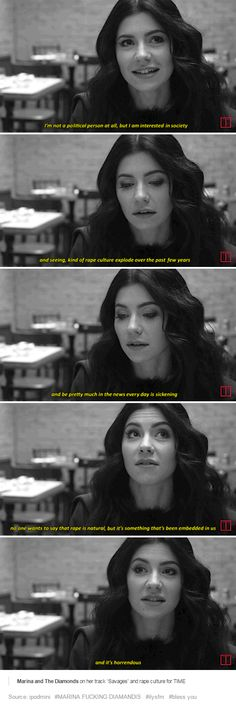 Marina and The Diamonds on her track 'Savages' and rape culture for TIME