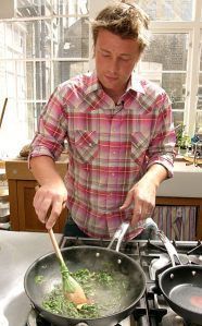 jamie oliver ~ love his cooking shows... he's brilliant and funny.