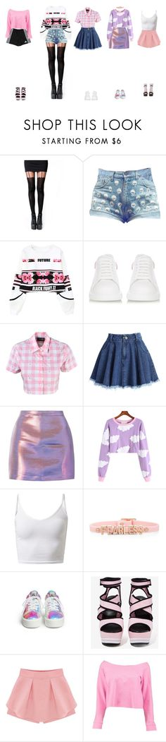 """""""— Sugar: ' Heart Attack' Individual Scenes"""" by girlz-ten ❤ liked on Polyvore featuring Pamela Mann, Alexander McQueen, Lazy Oaf, Chicwish, adidas, BCBGeneration, Steve Madden, WithChic, Boohoo and Akira"""
