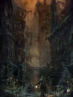 "Bloodborne Concept Art ""Old Town"" by From Software Art Team"