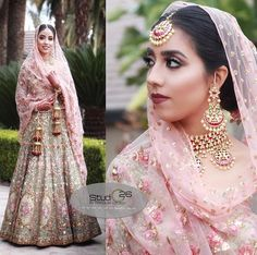 Gold Jewelry For Brides Refferal: 5853135225 Sikh Wedding Dress, Muslimah Wedding Dress, Wedding Lehnga, Indian Bridal Lehenga, Indian Bridal Fashion, Indian Wedding Outfits, Bridal Outfits, Bridal Dresses, Indian Outfits