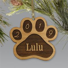 Whether your pet is a dog or a cat, these engraved Personalized Pet Ornaments are ideal for them! Personalized with any name and year is standard, this personalized paw print ornament is a keepsake you'll always enjoy. Personalized Christmas Ornaments, Christmas Tree Ornaments, Xmas Tree, Christmas Animals, Christmas Wood, Paw Print Art, Paw Prints, Christmas Loading, Pet Memorial Gifts