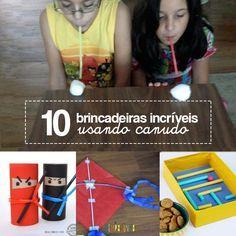 10 ideias de brincadeiras com canudo - ótimas dieias pra brincar com as crianças