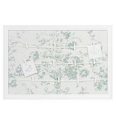 Fotopinnwand aus Holz, 44 x 65cm, weiß ANGELINE